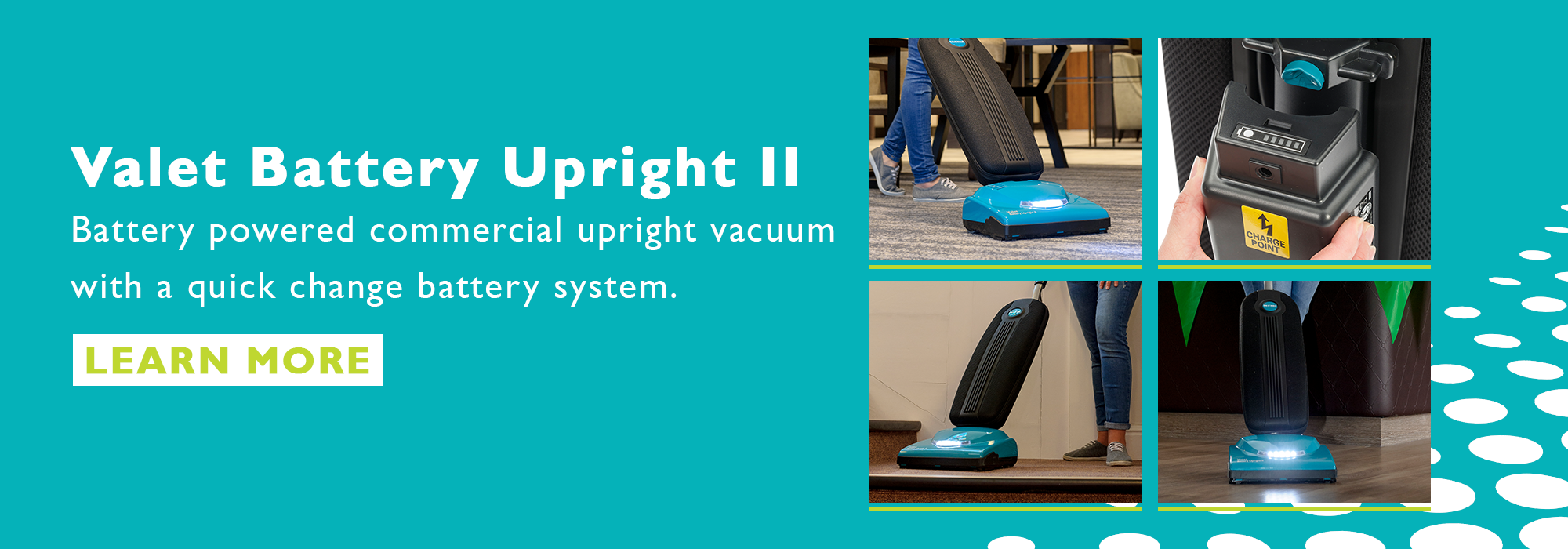 VBUII battery upright vacuum