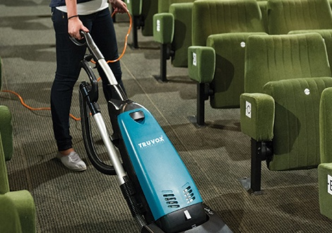 New Valet Single Motor Upright commercial vacuum cleaner offers excellent manoeuvrability