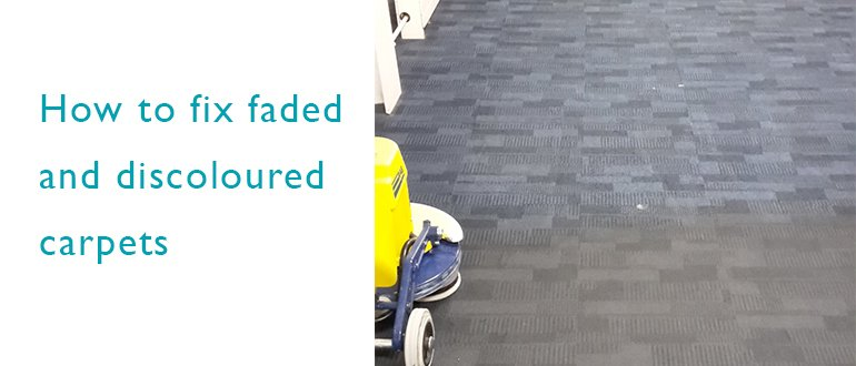 How to fix faded and discoloured carpets