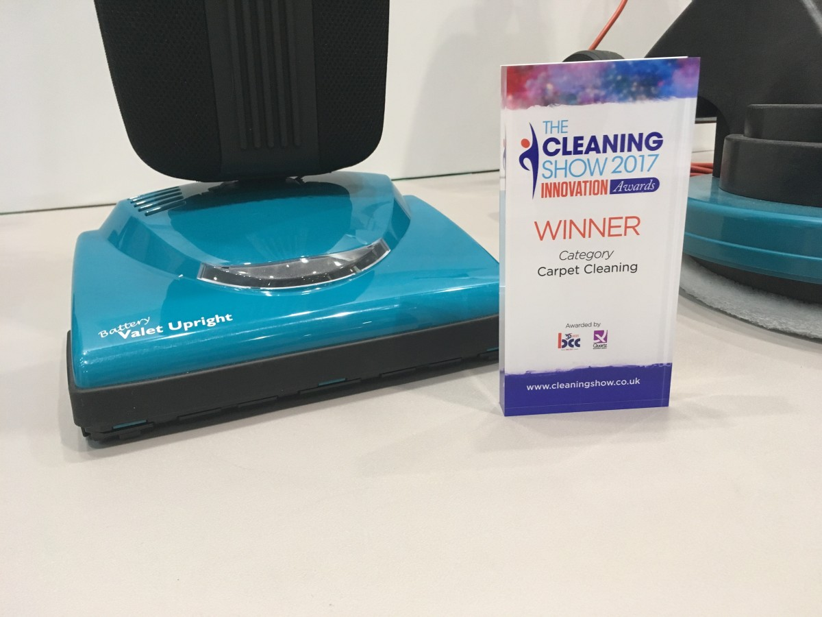 award-winning Valet Battery Upright at the Cleaning Show 2017