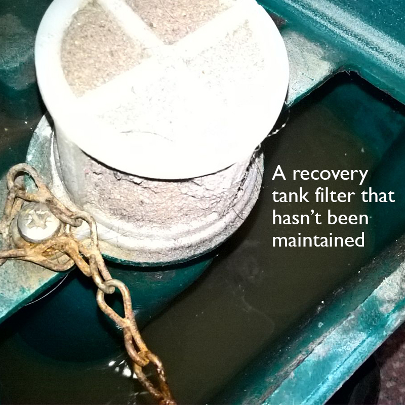 recovery tank filter carpet extractor