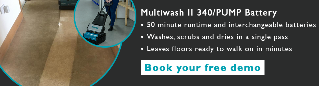 multiwash battery floor machine care home