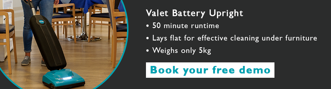 vbu battery vacuum care home